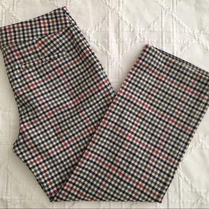 Jackie Plaid Cropped Pants